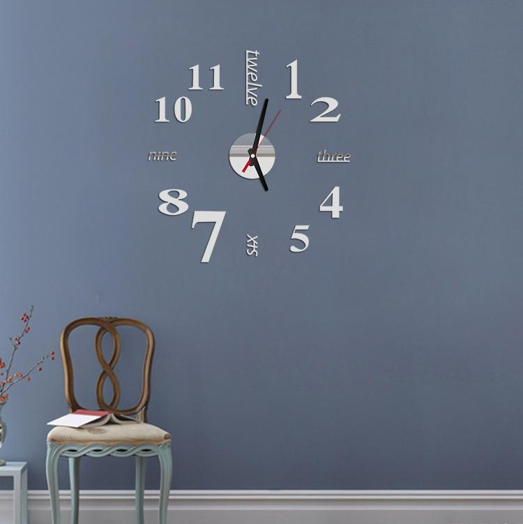 Big Wall Clock Modern Design 3d Diy Large Decorative Wall Clocks