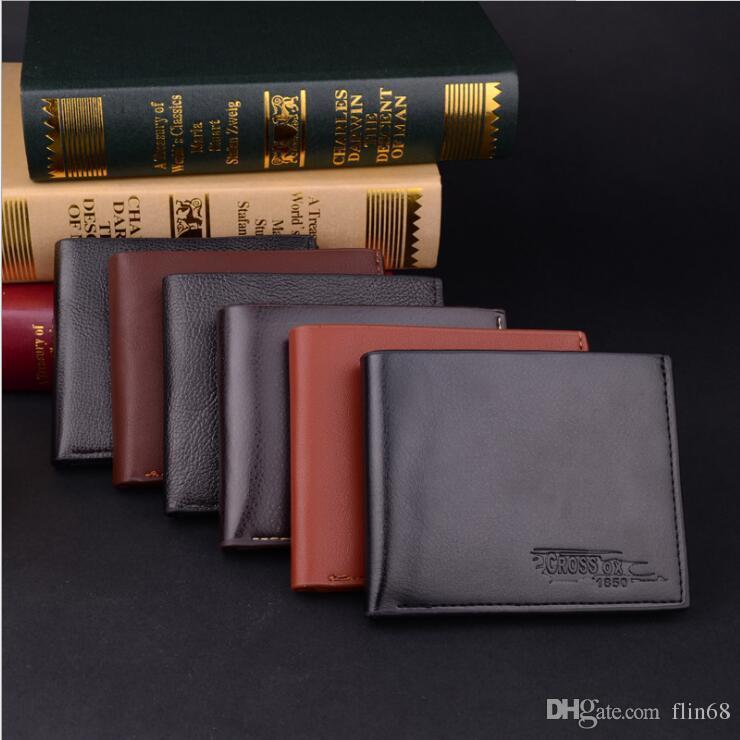 رجل مصمم محفظة جلدية رجال الأعمال حامل بطاقة قصيرة الكلاسيكية المال المحافظ حامل جواز السفر dhl شحن مجاني