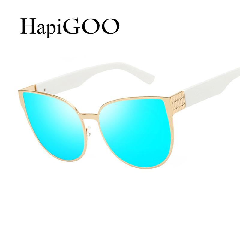 f55babe9397 HapiGOO Vintage Oversize Cat Eye Sunglasses Women Fashion Summer Style Big  Size Frame Mirror Sun Glasses Female Oculos UV400 UK 2019 From G6241163
