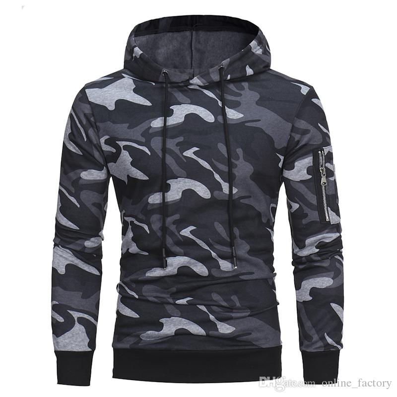 3c63b60b3ad Spring And Autumn New Men  Camo Hoodie Men s Casual Hooded ...