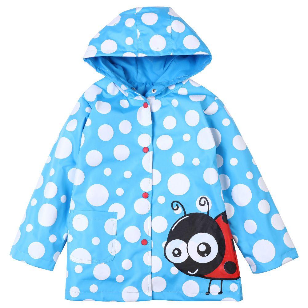 9e4873e51fbf Cute Kids Raincoat Jacket Cartoon Animal Cosplay Dot Hooded Coat For ...