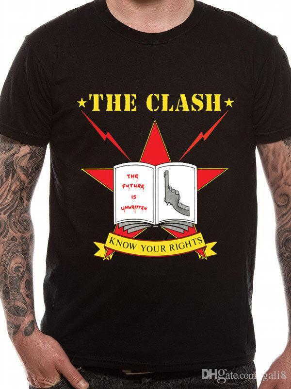 Official The Clash - Know Your Rights - T-shirt nera da uomo