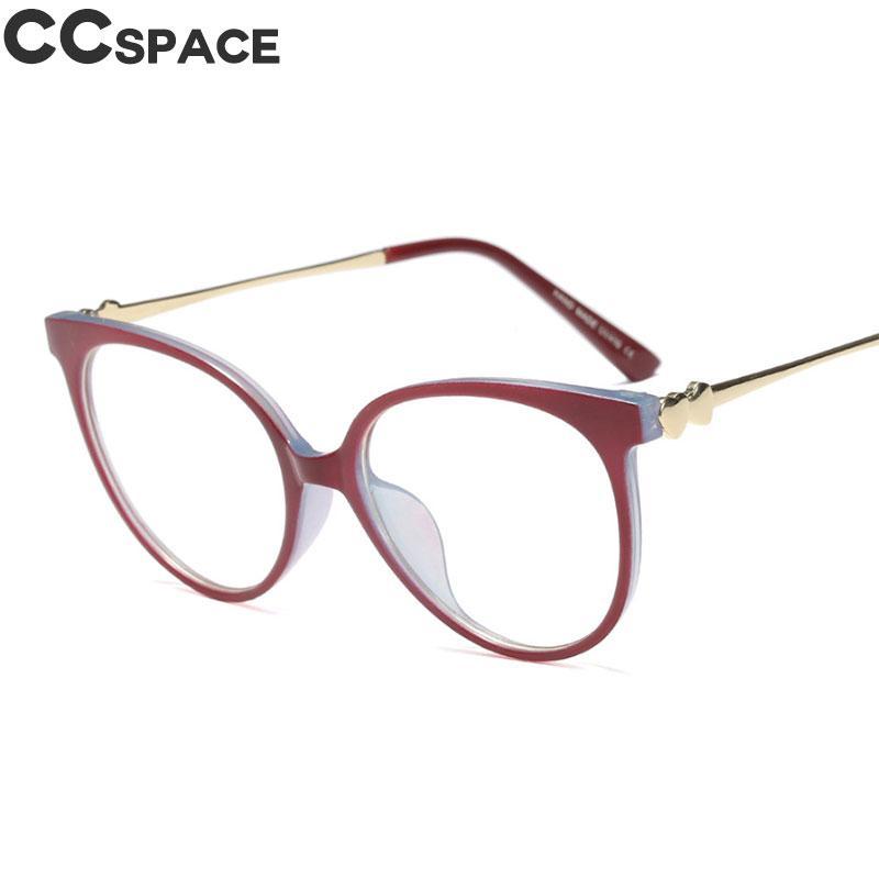 2018 Cat Eye Glasses Frames Double Sided Printing Women Trending ...