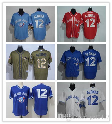 41c2036d845 Custom Men s Women Youth Blue Jays Jersey  12 Roberto Alomar Home ...