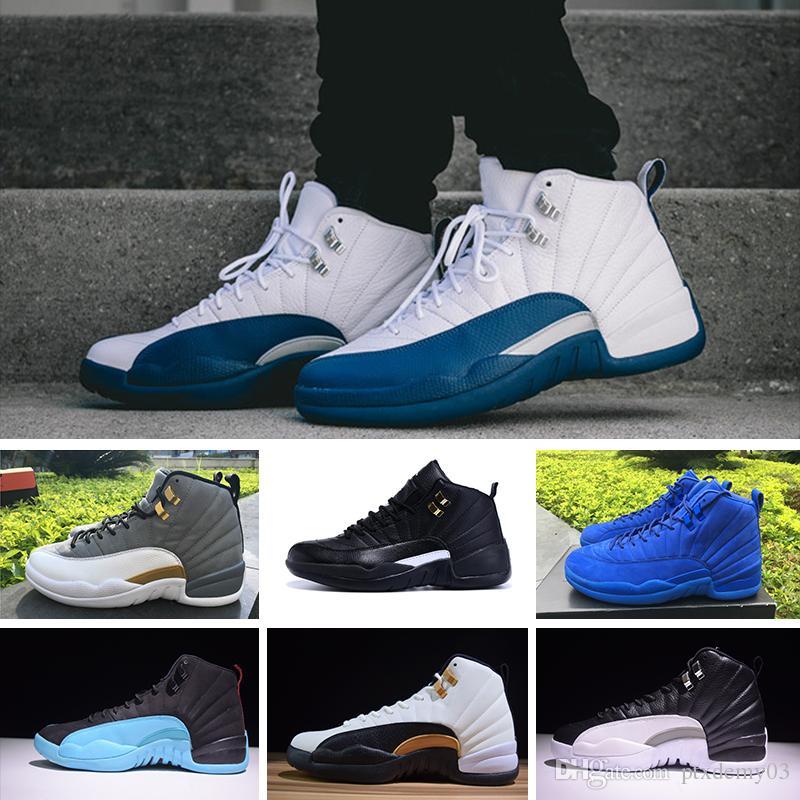 on sale e596c 1f9a4 Acquista Nike Air Jordan 12 Retro Running Shoes 2 Grano Bordeaux Grigio  Scuro Lana Scarpe Da Basket Uomo 12s Bianco Flu Gioco UNC Gym Rosso Taxi  Gamma ...