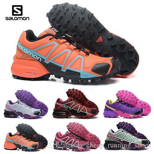 2018 Salomon Speed cross 4 CS IV Running shoes Black Silver red Pink Women Outdoor SpeedCross 4s Hiking Womens sports Trainer sneaker 36 42