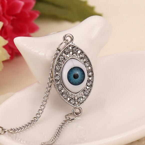 DHL New Crystal HAMSA Blue Evil Eye Bracciali Kabbalah turchi Fatima Bracciali Braccialetti le donne Regalo gioielli