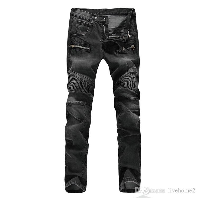 New Arrive Skinny Water wash Motorcycle mens jeans Desinger BM923-BM927 in single cow thickened Slim paris top quality plugs men's jeans