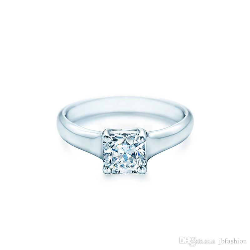 2019 Classic 4 Prongs 1 Ct Synthetic Diamond Ring For Marriage