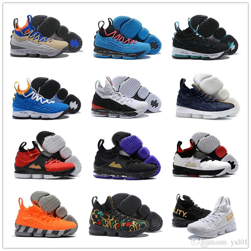 1714134d4f1 2018 New Playoffs 15 XV EP South Coast Black Purple Mens Games Basketball  Shoes Cheap Sale 15s Casual Designer Sports Sneakers Size 7-12