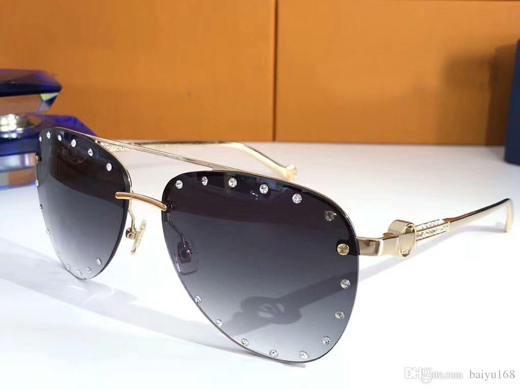 Compre Las Gafas De Sol Party Pilot Con Piedras Doradas   Gris Degradado Mujeres  Gafas De Sol De Marca Señoras De Diseñador Nuevo Con Caja A  66.5 Del ... 57ba95071b48