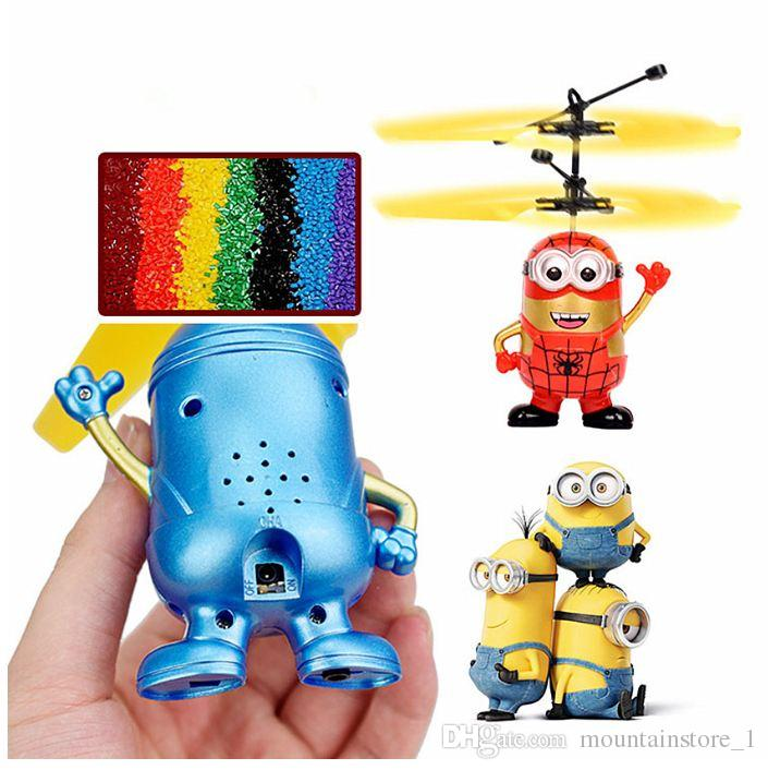 Flying Ball Helicopter RC Flying Ball Drone Helicopter Ball Built-in Shinning LED Lighting Flying Toys for Kids Cartoon