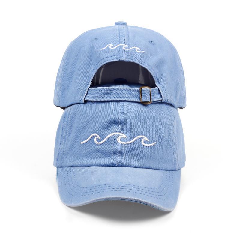 Cheap 2018 New Design Dad Hats Women Men Sea Wave Baseball Cap High Quality  Unisex Fashion Dad Hats New Sports 0a83f4e30d47