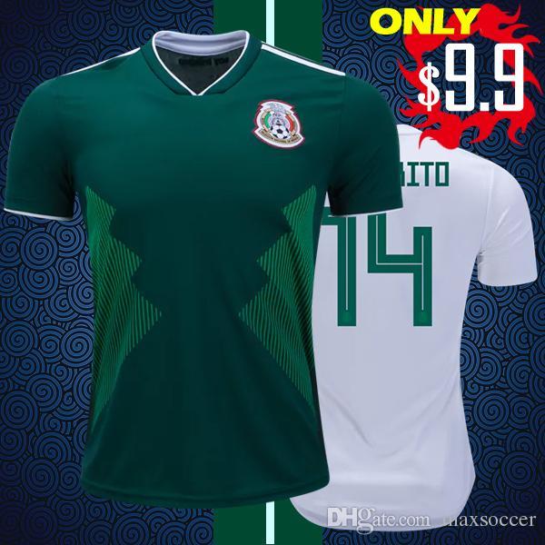 2e3acf522 2019 Top Thai Quality Mexico 2018 2019 Home Away Soccer Jerseys M.LAYON  G.DOS SANTOS CHICHARITO World Cup Camisa De Football Shirts XXL 3XL 4XL  From ...