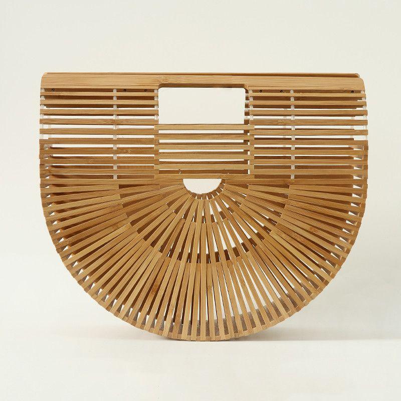 Ivan Handmade Beach Straw Woven Bag Japanese Bamboo Handmade Bamboo