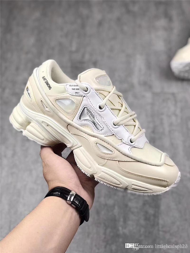 official photos 44be3 21e37 Newest Release Raf Simons X Ozweego 3 Bunny Cream Man Running Shoes Real  Leather Authentic Sports Sneakers With Orginal Box