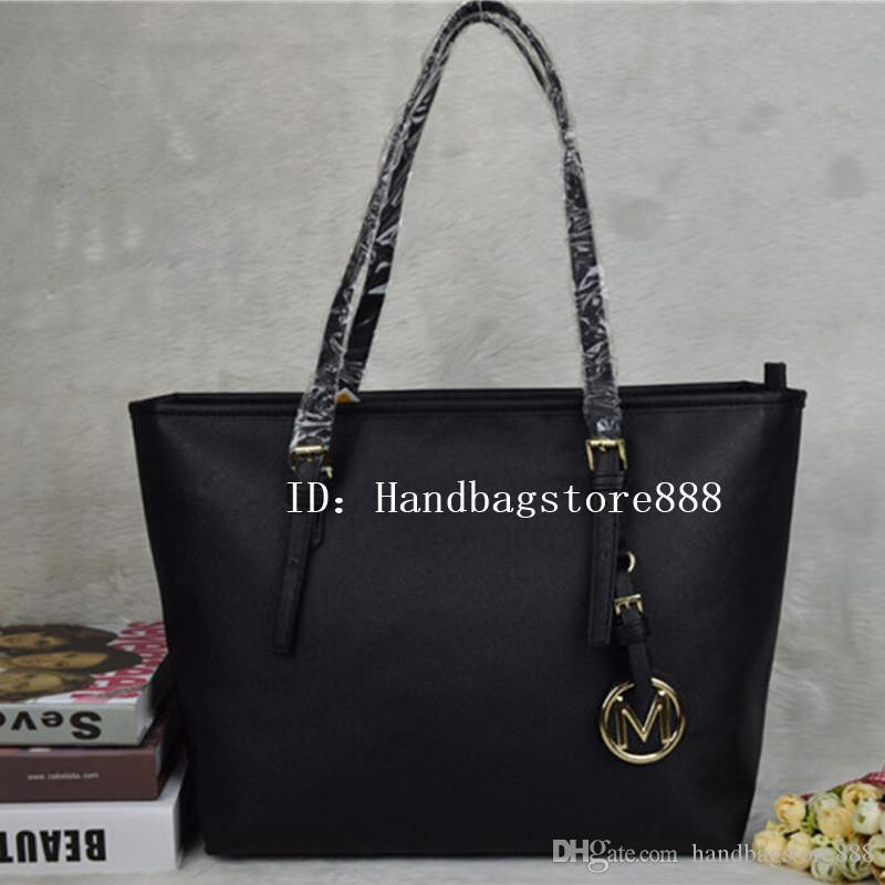 6323a822e137 Famous Brand Designer Fashion Women Bags Luxury Bags Jet Set Travel MICHAEL  KALLY Lady PU Leather Handbags Purse Shoulder Tote Female 6821 Black Handbag  ...