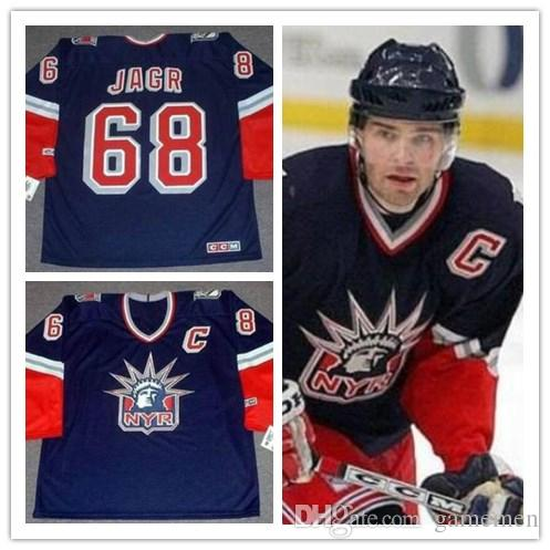 523563f37 2019 Men S  68 JAROMIR JAGR New York Rangers 2006 CCM Vintage Alternate ICE  Hockey Stitched Jersey Size XS 5XL From Gamemen