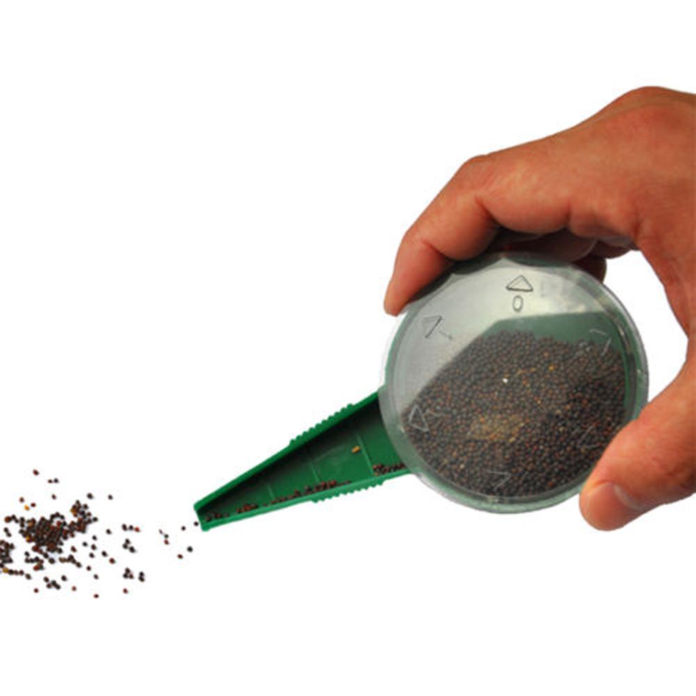 Plástico Semeador de Jardim Plantas Dispensador de Semente Sementes Plantador Seed Dial com 5 Diferentes Configurações Para O Plantio de Ferramentas de Jardim