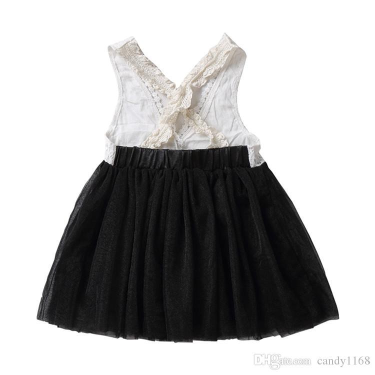 Il vestito libero dal tutu del merletto di estate del vestito da estate dei bambini di trasporto 2018 delle ragazze libera il vestito dal commercio all'ingrosso dell'arco di modo coreano