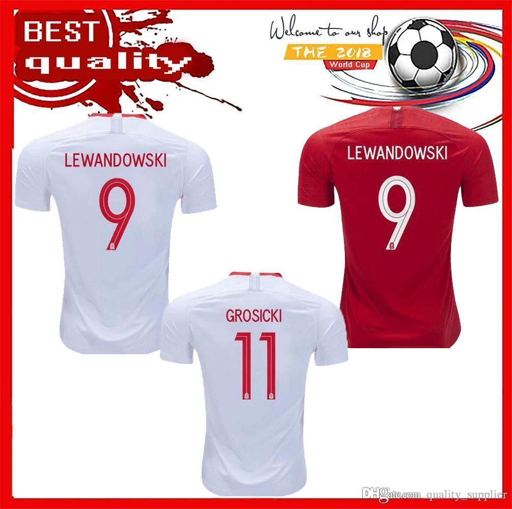 62a5c284 ... good 2018 2018 world cup poland short soccer jerseys home away  lewandowski glik krychowiak krychowiak 2019