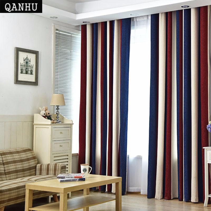 2019 QANHU European Style Color Curtains For Living Room Blackout ...