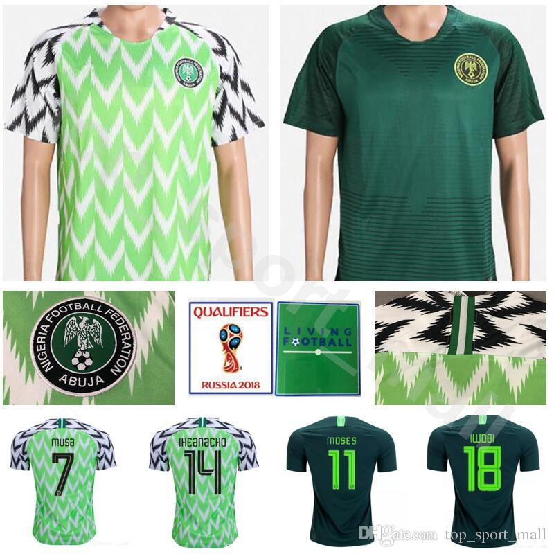 2019 World Cup 2018 7 MUSA Soccer Jerseys Football Shirt Kits Men 19 OGU 3  ECHIEJILE 17 ONAZI 22 OBI 9 IGHALO Green From Top sport mall dbe7e1b41