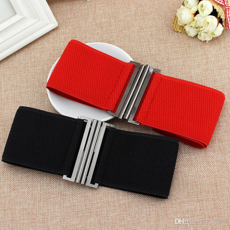 3530289a916 Lady Elastic Belt Fashion Silver Buckle Corset Wide Stretch Sexy Black And  Red Waistband Apparel Accessories Popular Belts 4 6dt Hh Leather Belt Jiu  Jitsu ...