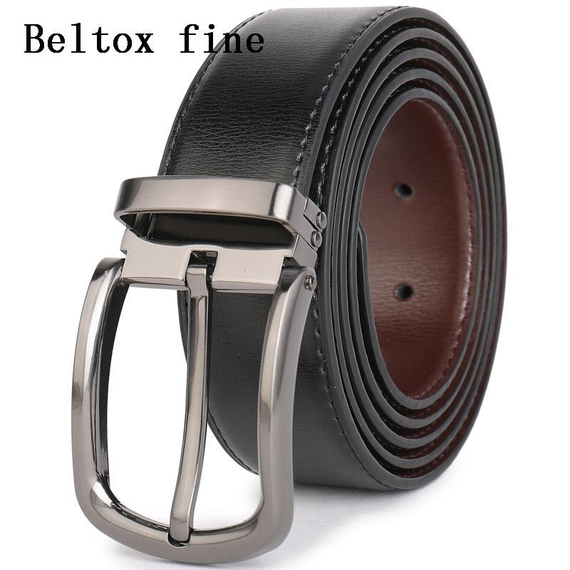 Compre Cinturones De Vestir De Cuero Para Hombres 1.3 Diseñador Ancho  Ceinture Brown   Negro Tamaño 28 54 Cinturón De Moda Cinto Hombres Ceinture  Cinturones ... 17ec3792b552