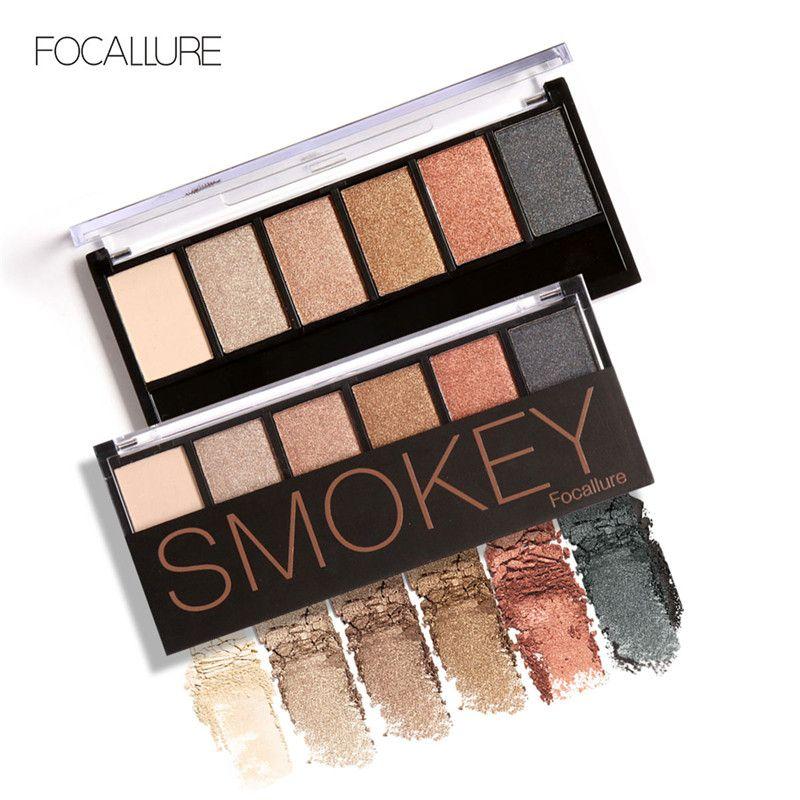 FOCALLURE Paleta de sombras de ojos de es Glamoroso Smokey Eye Shadow Shimmer Colors Kit de maquillaje de Focallure