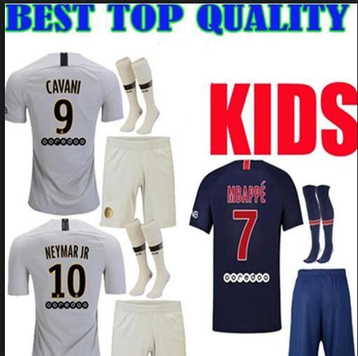0d2389fa1 2019 PSG Paris Kids Kit Soccer Jerseys 2018 2019 Neymar Jr Mbappe Home Away  Third VERRATTI CAVANI MAILLOT DE FOOT Child Survetement Psg SHIRT From ...