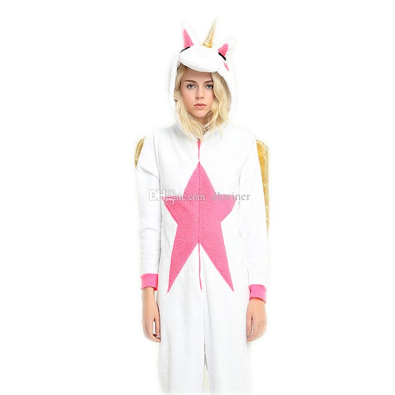bd19675f6297 Unicorn Onesie Adult Animal Pajamas Unisex Sleepwear Kigurumi Cosplay  Halloween French Maid Costume Mens Halloween Costumes From Dhwiner