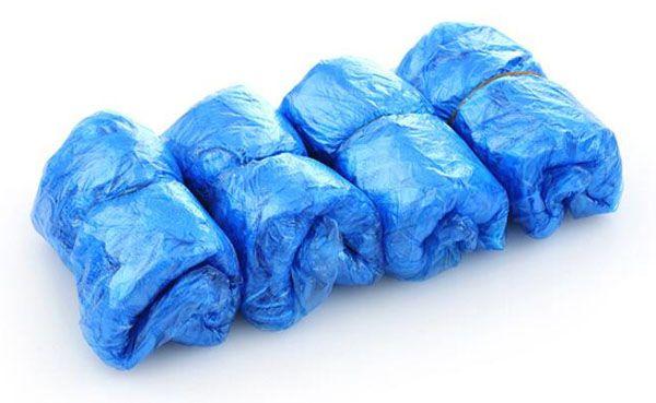 Nova Casa Prático Descartável Plástico Sapatos Cobre Bandas Elásticas de Plástico Pé Tampa Descartável Sapatos Cobre 100 Pacotes À Prova D 'Água À Prova de Chuva