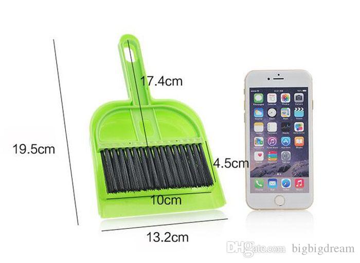 Mini colorful Desktop Cleaning Brush Computer and Keyboard Brush Small Broom Dustpan Set Brush Skimmer combo set