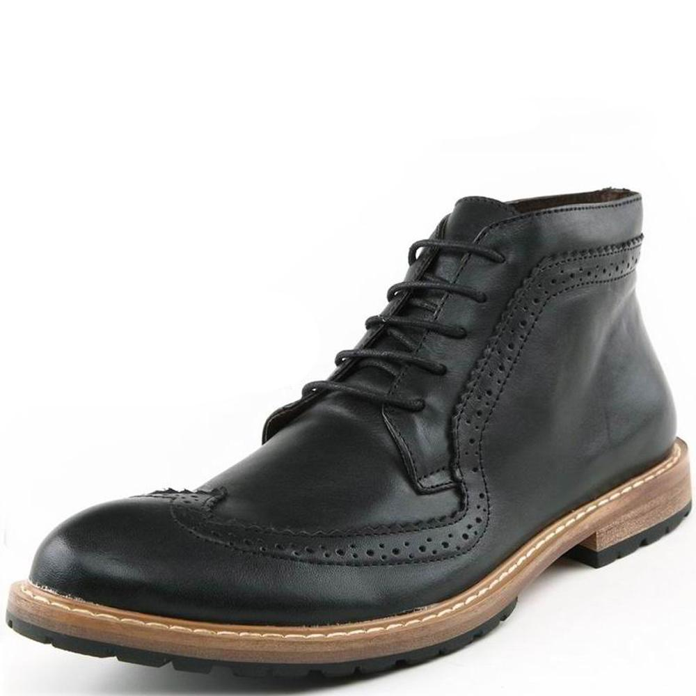 54eb52ea8347d2 2018 Mens Casual Boots Genuine Leather Ankle Boots Dress Shoes Lace Up  Brogue British Boot Male Martin Boots 1408B Boots For Girls Fur Boots From  Godefera, ...