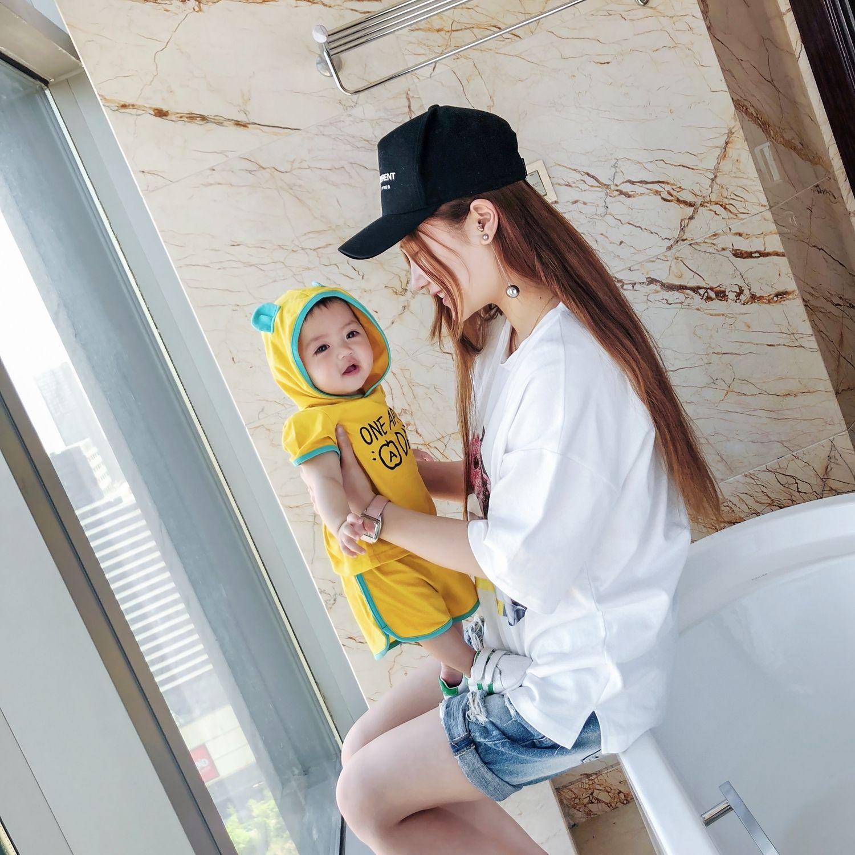 2018 Newborn Baby Boy Hoo d T Shirts Infant Boy Shorts Toddler Boy