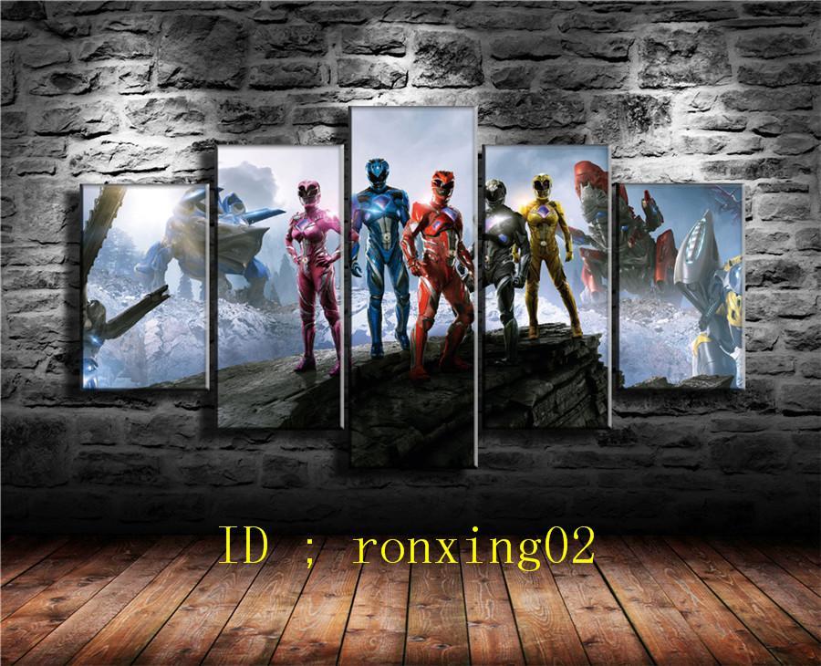 Großhandel Power Rangers, 5 Stück Wohnkultur Hd Gedruckt Moderne ...