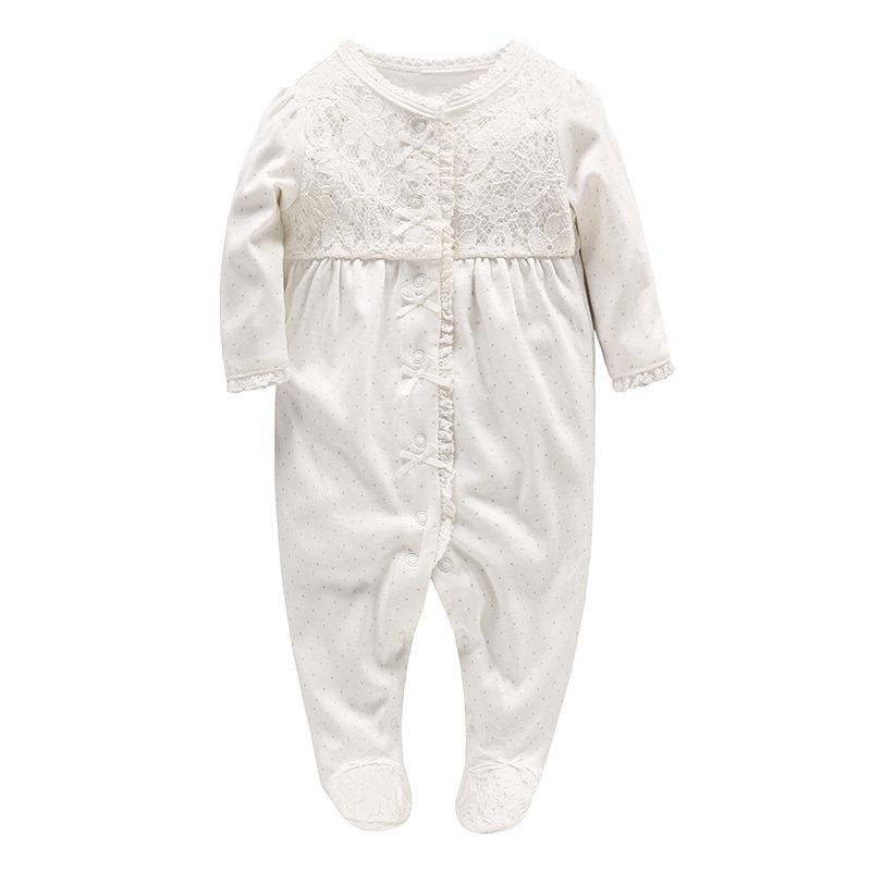 7ca03a521adc Picturesque Childhood 0-3 Months Clothes Unisex Baby White Solid ...