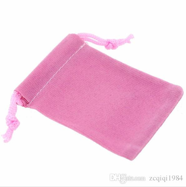 Velvet Pouches Drawstrings Soft mixed color Jewelry Gift Packing Bags For Chirstmas New Year Gift Bags