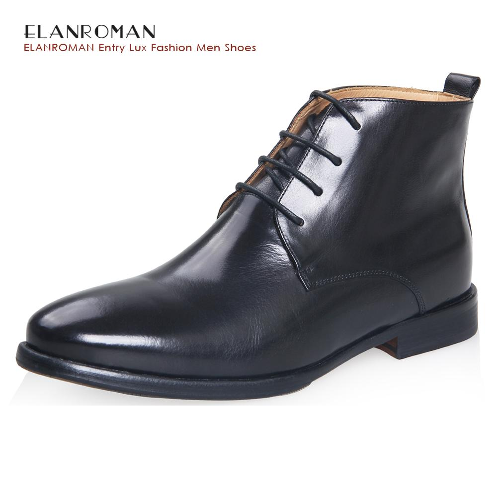 3c1591157a7 ELANROMAN 2017 Fashion Men Boots Leather Chukka Boots With Cow Leather  Material Dress Men Shoes Male Handmade Footwear Fringe Boots From Aiyin