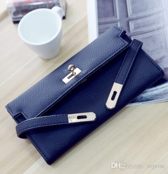 Оптовая Новый 2018 Мода Англия стиль кожа высокое качество Женщины сумки карманные карты сумочка кошельки дизайнер сцепления кошелек