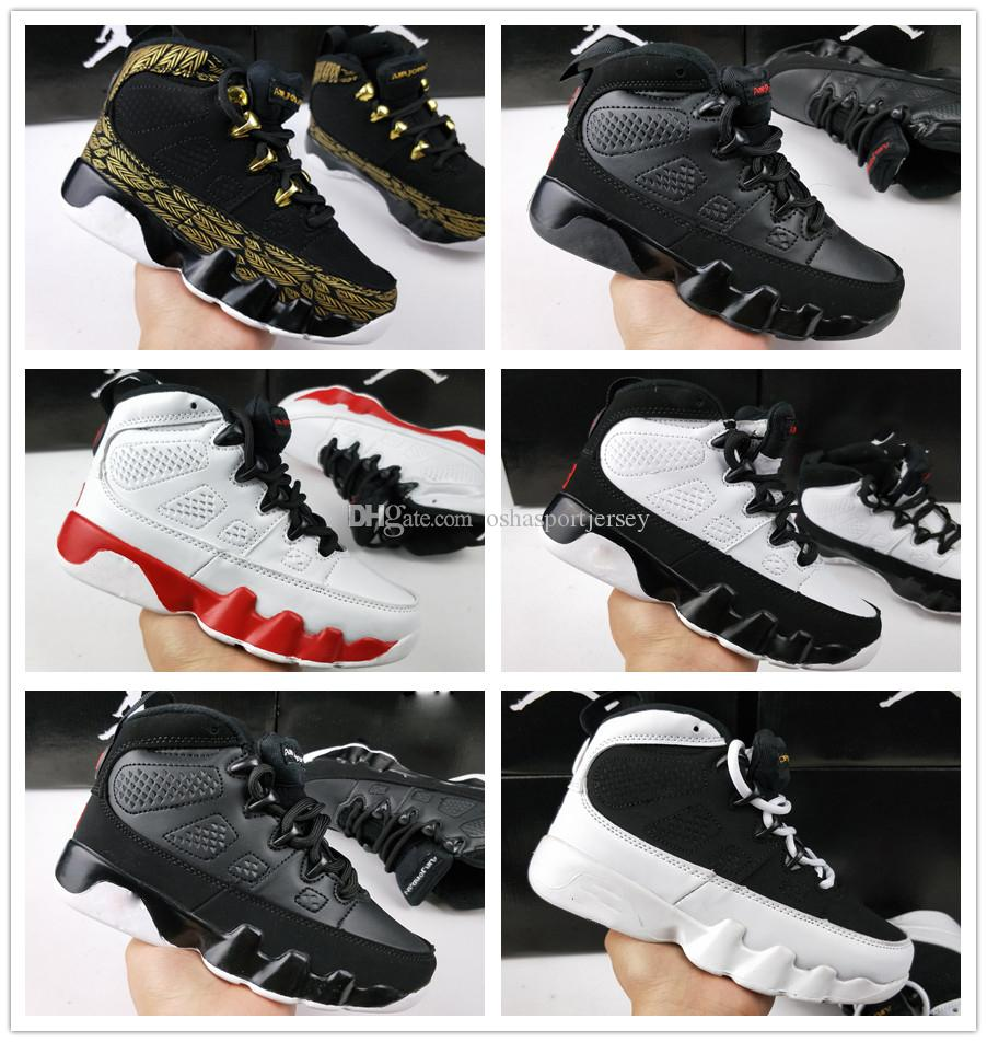 buy popular 94f3c 78314 Großhandel Nike Air Jordan Aj9 Kids 9 Basketballschuhe Der Geist LA Oreo  Space Jam PE Anthrazit Gezüchtet Schwarz Kinder Jugend 9 IX Turnschuhe  Junge ...