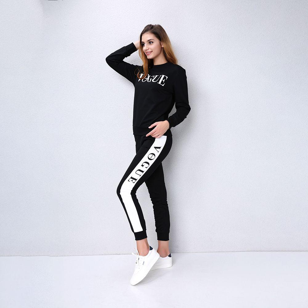 Compre Otoño Invierno Mujeres 2 Unidades Ropa Conjunto Casual Moda Vogue  Sudadera + Pantalones Largos Chándal Para Mujeres Con Capucha Traje  Femenino A ... bffc924e4393