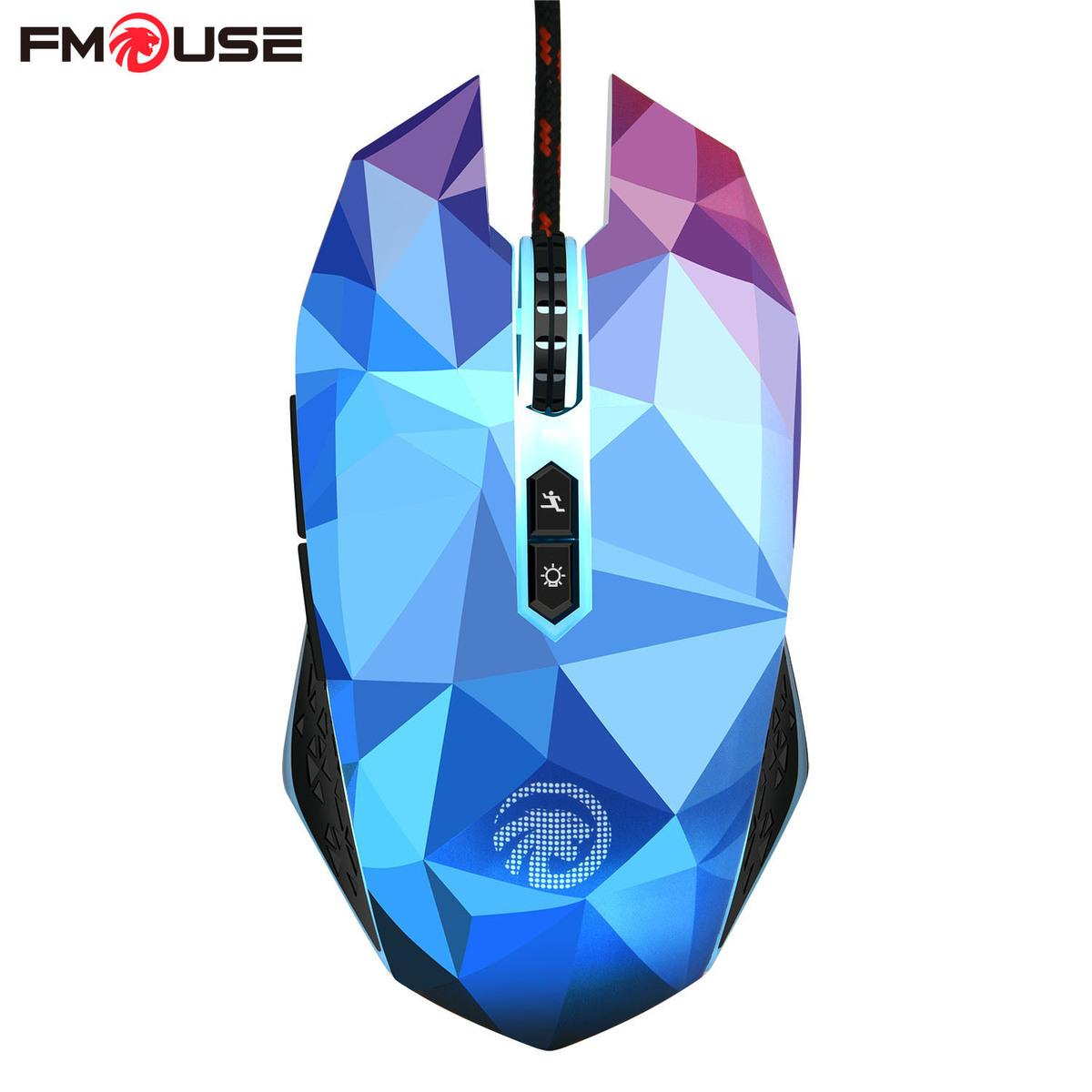 2018 Fmouse X8 Dazzle Colour Diamond Edition Gaming Mouse Wired ...