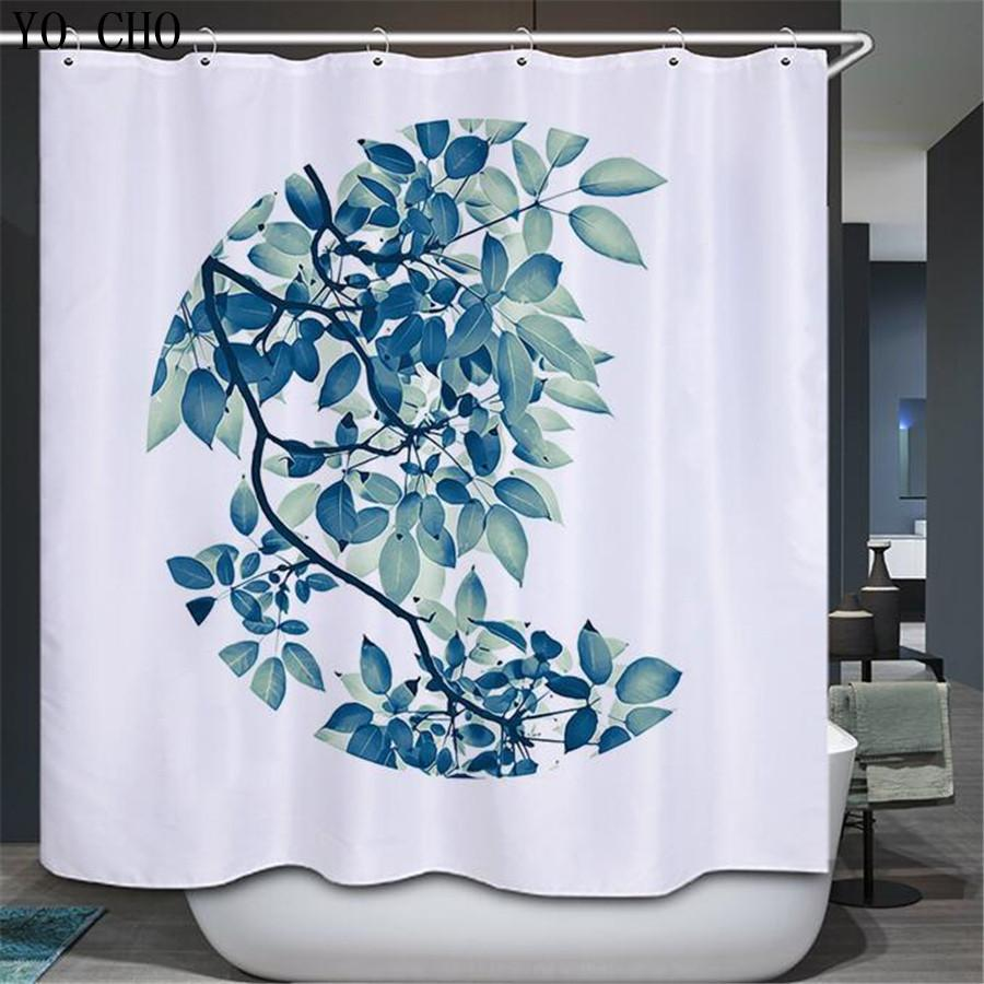 Wholesale-YO CHO Floral Shower Curtains Bathroom Curtain Rideau De ...