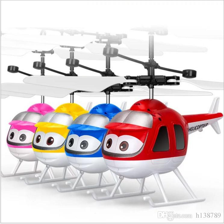 RC Helicopter Airplanes Ali Minion Fly Flashing helicopter Hand Control RC Toys Minion Helicopter Quadcopter Drone Ar.drone With LED