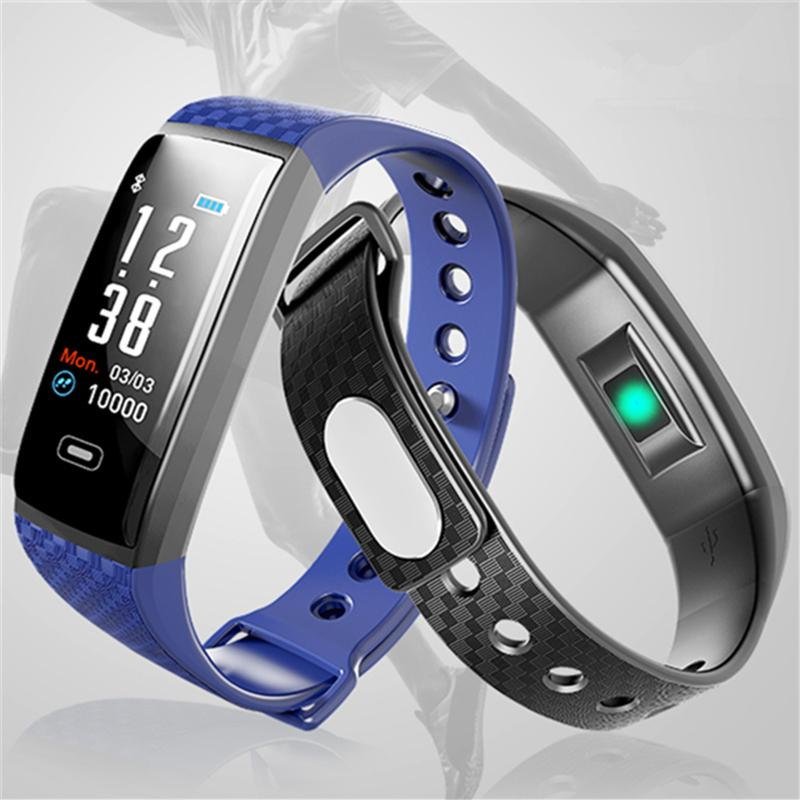 2019 Ogeda Fitness Men Smart Watch Health Heart Rate Monitoring Fitness Tracker Ip67 Waterproof Bluetooth For Android Ios Men's Watches Digital Watches