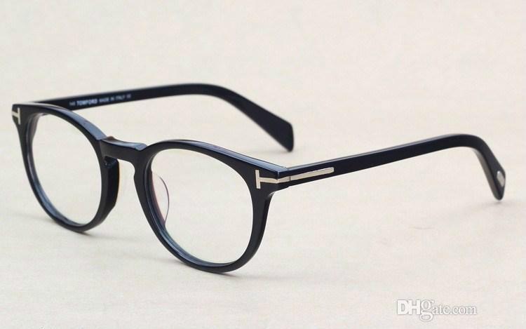 c2d64552eaa9a Classic Retro Clear Lens Optical Frames Glasses Brand Designer Men ...