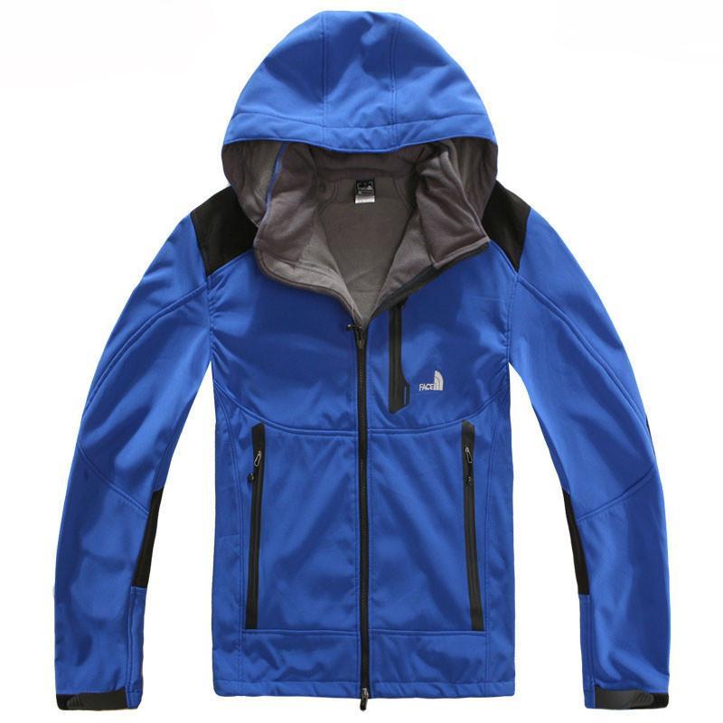 Designer Men S Jacket Autumn Winter The North Fleece Windbreaker Face  Hooded Zipper Up Coats Wind Stopper Jackets Casual Sports Men Clothing  Cream Leather ... f04929fec