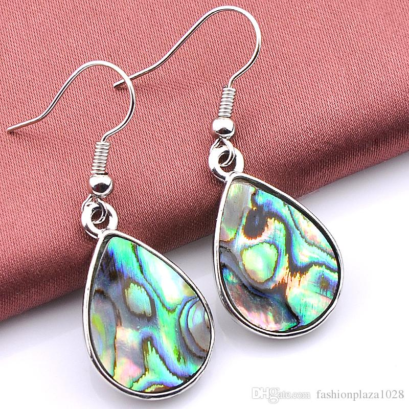 925 sterling silver luckyshine new arrive wholesale Natural Shell women fashion earring A050